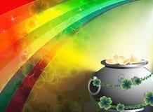 μαγικό δοχείο leprechaun νομισμάτ&omeg Στοκ Εικόνες