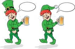 Leprechaun ou duende bêbedo. Fotos de Stock