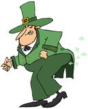 Leprechaun passing gas Stock Photography