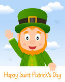 Leprechaun Patrick s Day Greeting Card Stock Photos