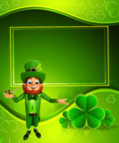 Leprechaun for patrick's day with smoking pipe Royalty Free Stock Images