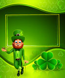 Leprechaun for patrick's day with smoking pipe Royalty Free Stock Photos