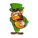 Leprechaun on Patrick`s Day Stock Image