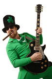 Leprechaun playing the guitar Royalty Free Stock Images
