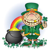 Leprechaun with Pot of Gold Stock Image