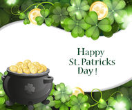 Leprechaun pot of gold Stock Photo