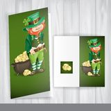 Leprechaun With Pot Of Gold. Royalty Free Stock Image