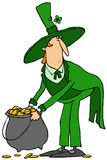 Leprechaun with a pot of gold Royalty Free Stock Photography