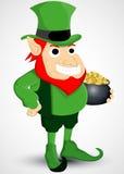 Leprechaun with a pot of gold Royalty Free Stock Photos