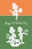 Leprechaun powitania St Patrick Szczęśliwy dzień Obrazy Royalty Free