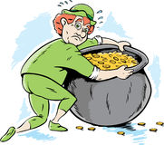Leprechaun protecting his gold Stock Photo
