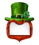 Leprechaun pustego miejsca znak Obrazy Royalty Free