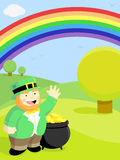 Leprechaun & Rainbow royalty free illustration