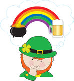 Leprechaun Rainbow Beer Royalty Free Stock Photography