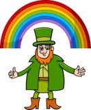 Leprechaun and rainbow cartoon Stock Photo