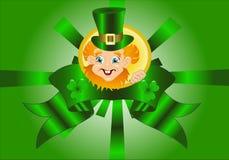 Leprechaun with a ribbon Royalty Free Stock Photos
