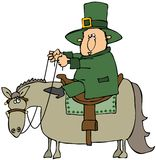 Leprechaun Riding A Horse Royalty Free Stock Images