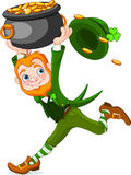 Leprechaun Running Imagem de Stock Royalty Free