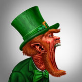 Leprechaun Screaming Character Royalty Free Stock Images