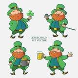 Leprechaun set vector stock illustration