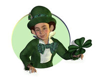 Leprechaun with Shamrock Royalty Free Stock Image