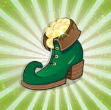 Leprechaun shoe Royalty Free Stock Photography
