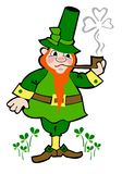 A leprechaun smoking Stock Photography