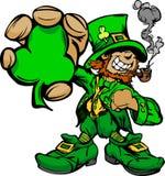 Leprechaun sorridente di giorno della st Patricks Fotografia Stock Libera da Diritti