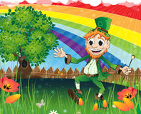 Leprechaun on a spring meadow Royalty Free Stock Photos
