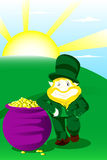 Leprechaun on st patrick day Royalty Free Stock Image