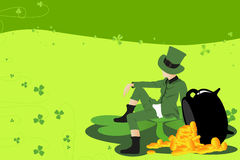 Leprechaun and St Patrick day Stock Photography