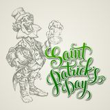 Leprechaun. St. Patricks Day vector illustration Royalty Free Stock Photography