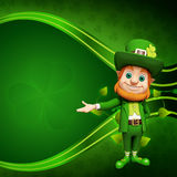 Leprechaun stands on green background Royalty Free Stock Photography