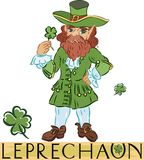 Leprechaun with title Stock Photos