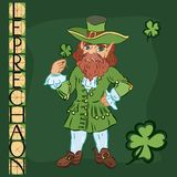 Leprechaun with title Royalty Free Stock Photography