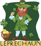 Leprechaun with title Royalty Free Stock Image