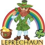 Leprechaun with title Royalty Free Stock Photos
