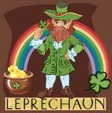 Leprechaun with title Stock Photo