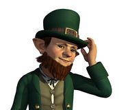Leprechaun About to Tip His Hat Stock Photo