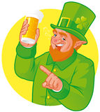 Leprechaun toast Royalty Free Stock Images