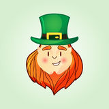 Leprechaun in top hat. Royalty Free Stock Images