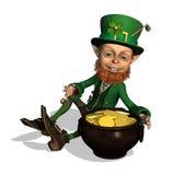 Leprechaun with Treasure Royalty Free Stock Image