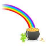 Leprechaun treasure cauldron Royalty Free Stock Photography