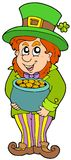 Leprechaun with treasure pot Royalty Free Stock Images