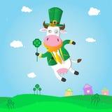 Leprechaun-vaca para el día del St. Patrick.s. Fotografía de archivo