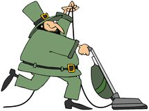 Leprechaun With A Vacuum Royalty Free Stock Photo
