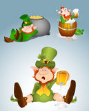 Leprechaun Vector Illustrations Royalty Free Stock Photo