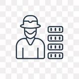 Leprechaun wektorowa ikona odizolowywająca na przejrzystym tle, linea ilustracji