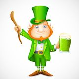 Leprechaun wishing Saint Patrick's day Stock Image