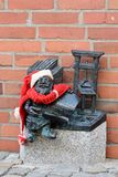 Leprechaun in Wroclaw. Christmas leprechaun in Wroclaw, Poland Stock Photo
